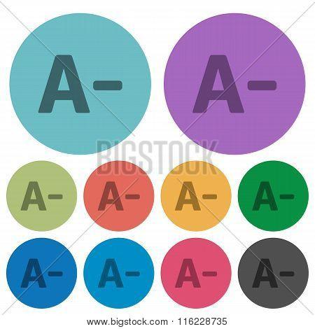 Color Decrease Font Size Flat Icons