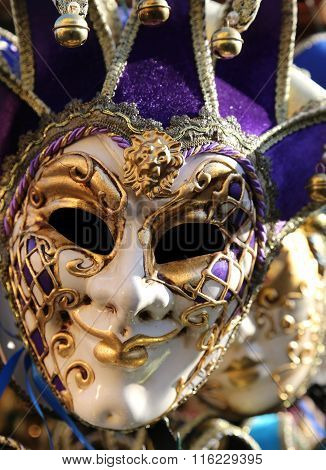 Carnival Mask For Masquerade During The Celebrations In Venice