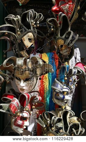 Venice Italy Carnival Mask During Festivities