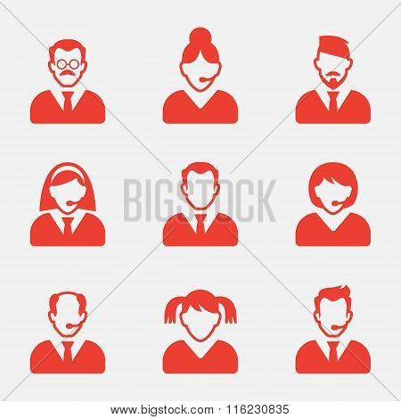 Business people avatar icons. Vector illustration.User sign icon. Person symbol.