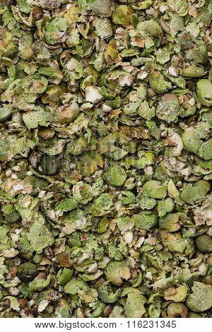 Crushed Green Peppercorns (texture)