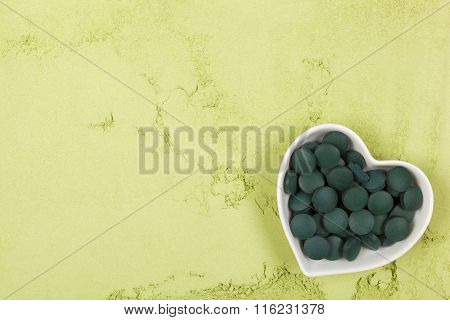 Chlorella And Spirulina Background.