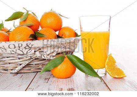 Mandarin Background Provence Style.