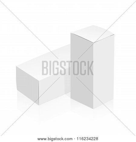 White 3D vector boxes