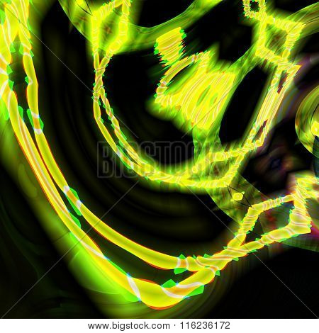 Green And Yellow Vibrant Background