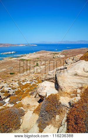 Sea In Delos Greece The Historycal