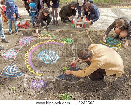 The Creation Of A Sand Mandala