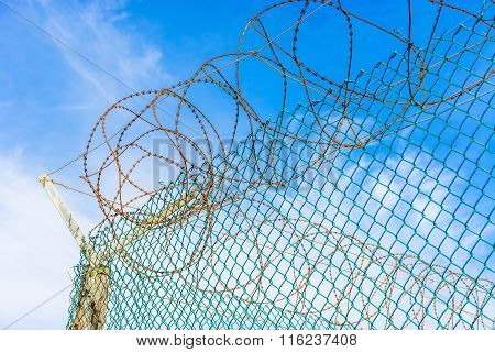 Fence And Barb Wires At  Robben Island Prison