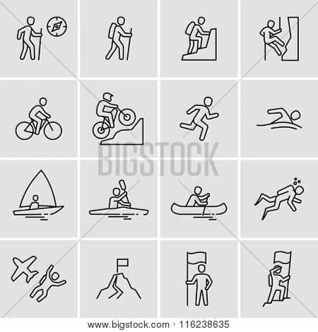 Outdoor Activities Vector Icons