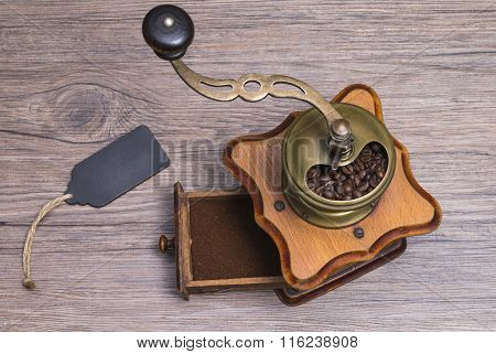 Coffee Grinder With Label
