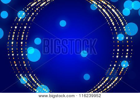 Blue Abstract Background, Particle And Form
