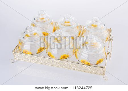 Empty Jar On A Background