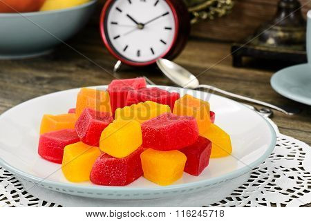 Sweet Candied Fruit Jelly