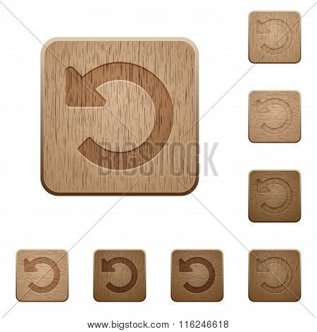 Undo Changes Wooden Buttons