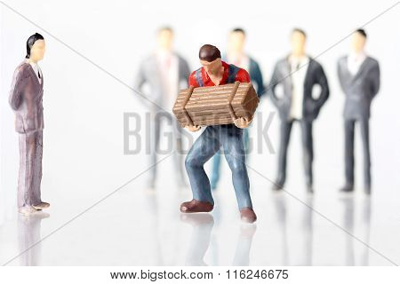 Worker And White Collar Businessmen