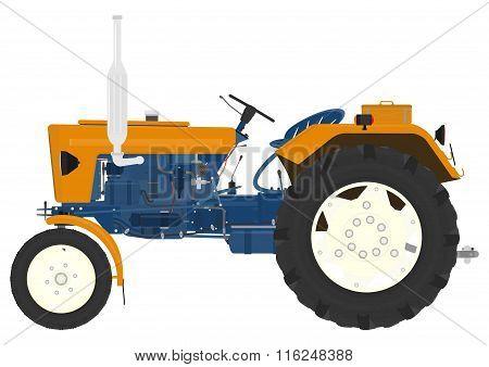 Cartoon Vintage Tractor