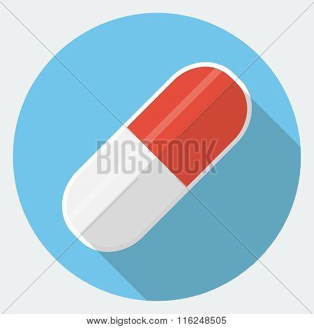 Vector capsule pill icon