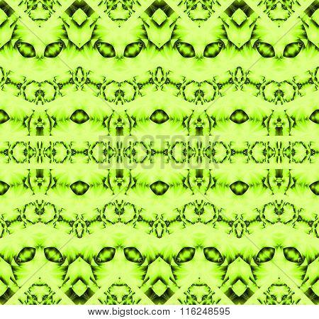 Seamless pattern green ornaments