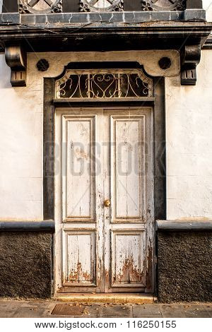 Old door facade