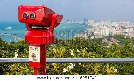 Coin-operated Binoculars For Sightseeing