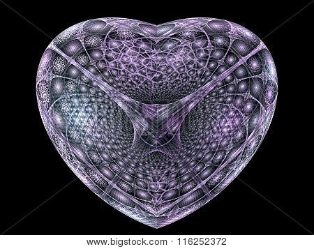Abstract digitally generated image textured heart