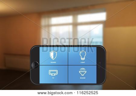Smart Home Automation App On Smartphone