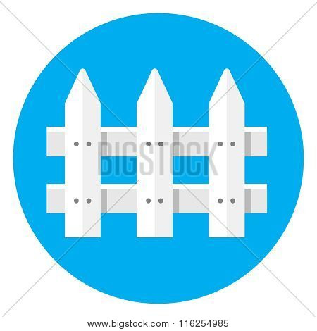 Picket Fence flat icon