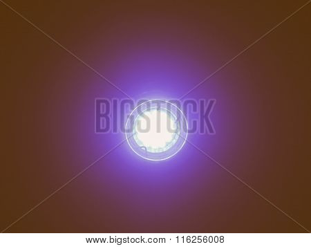 Blue Led Light Bulb Vintage