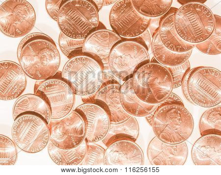 Dollar Coins 1 Cent Wheat Penny Vintage