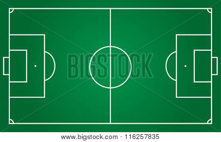 Football or soccer field background. Vector illustration.