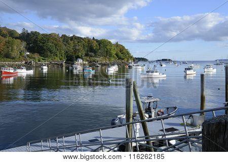 Many Boats In The Rockport Marine Harbor