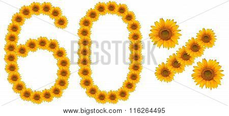 Figure Of 60% Of The Written Text Colors Sunflowers