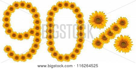 Figure Of 90% Of The Written Text Colors Sunflowers