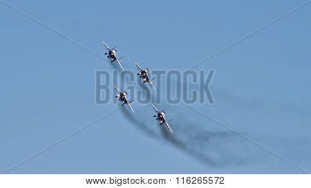 Demonstration Performance Of Aviation Group Of Aerobatics Military-air Forces Of Russia
