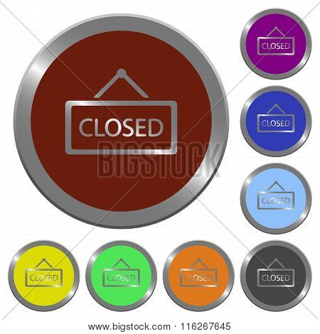 Color Closed Sign Buttons