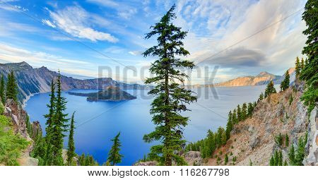 Crater lake view