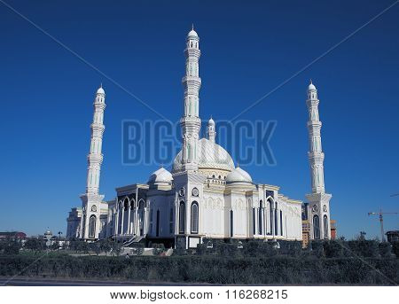 View Of The New Mosque In Astana