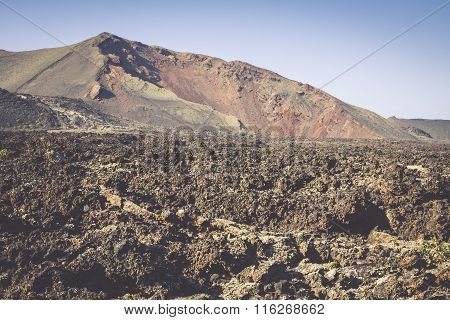 Timanfaya National Park In Lanzarote, Canary Islands, Spain