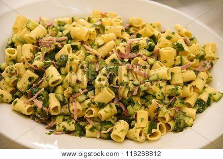 Pasta Speck And Zucchini