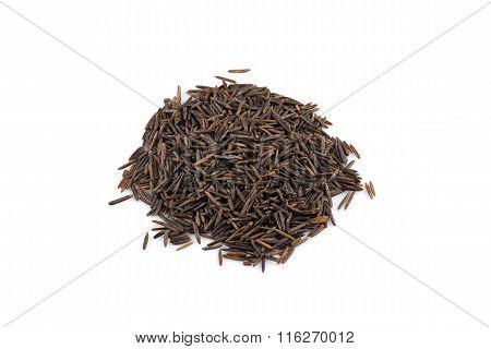 Heap Of Wild Rice On White Background