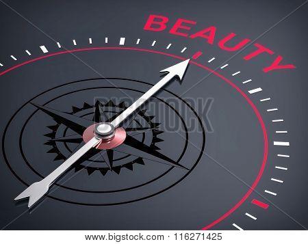 3D Compass. Beauty Word