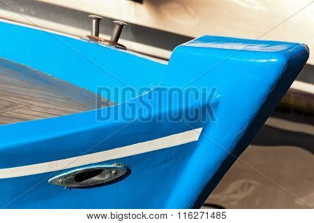 Blue Prow Of Rowing Boat