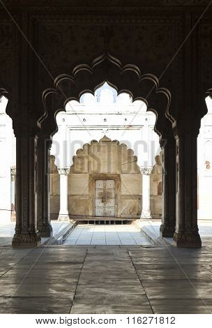 Inlaid Marble, Columns And Arches, Hall Of Private Audience Or Diwan I Khas At The Red Fort In Delhi