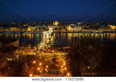Overview Of Budapest With St Stephen (st Istvan) Basilica