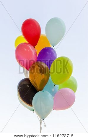 Colorful Bunch Of Helium Balloons