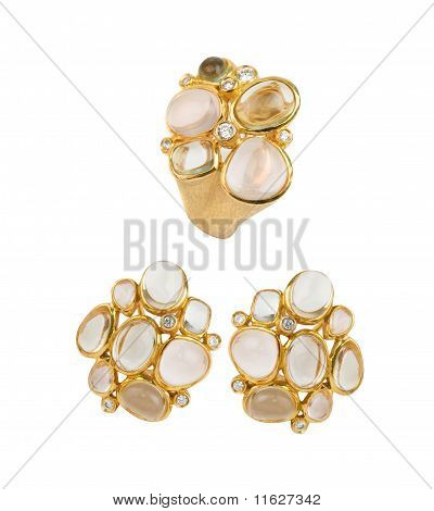 Gold Ring And Earring
