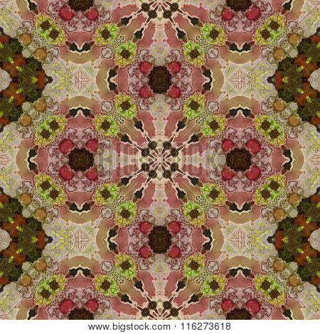 Old colorful Persian carpet. Seamless texture of abstract fabric.