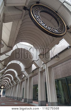 Building Gallery With Seal On Top With The Federal Reserve Bank Of San Francisco