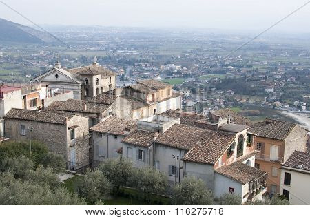 the city of Ferentino in Italy