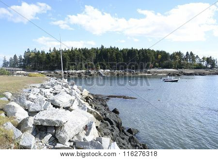 Small Iinlet On The Maine Coast
